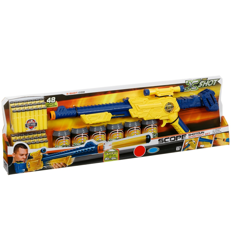 X shot scope shotgun shootout set kids toys bm 328345 x shot scope shootout set stopboris Choice Image