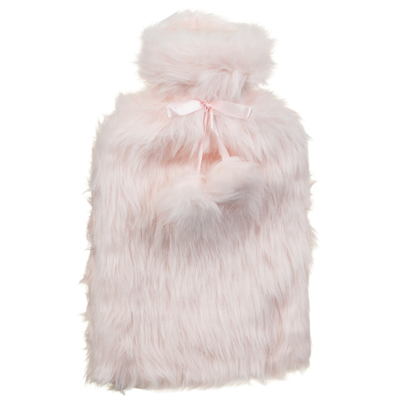 Deluxe Fur Hot Water Bottle Pink Novelty Gifts B Amp M