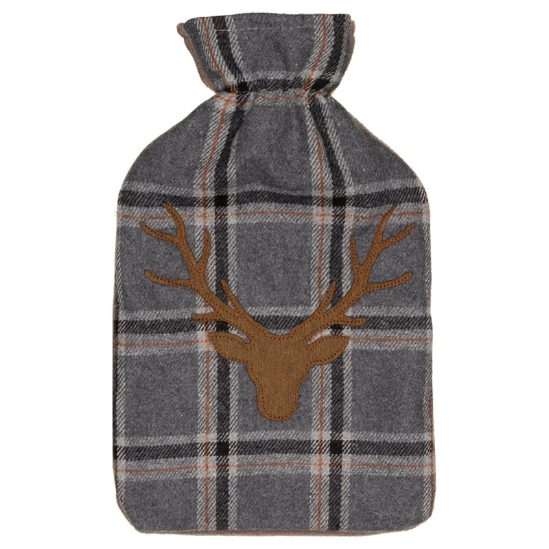 Heritage Collection Hot Water Bottle Grey Stag Head