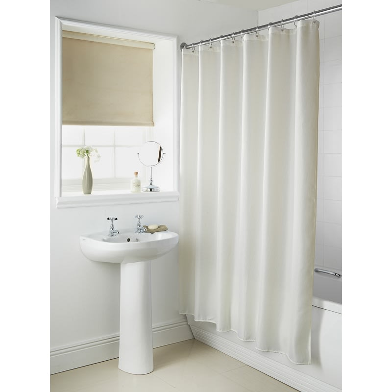 328464 Plain Shower Curtain Cream