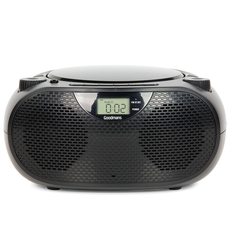 Goodmans Bluetooth CD Boombox - Black