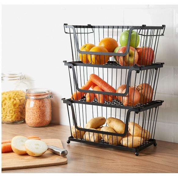 Stackable Basket Kitchen Accessories Storage B Amp M
