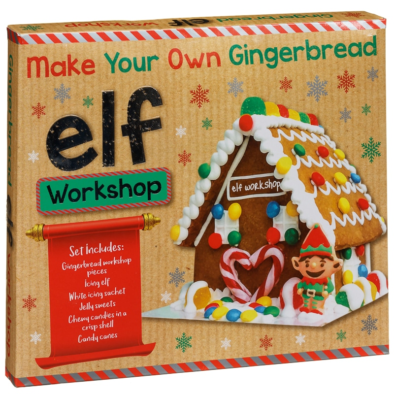 Make your own gingerbread elf workshop food gifts b m Make your own gingerbread house online