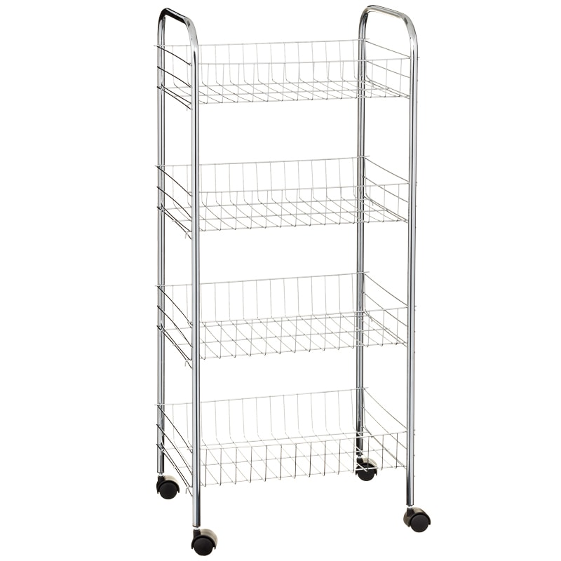 Beldray 4 Tier Multipurpose Trolley - Chrome
