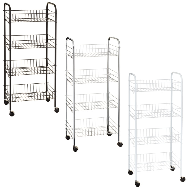 Beldray 4 Tier Multipurpose Trolley - White