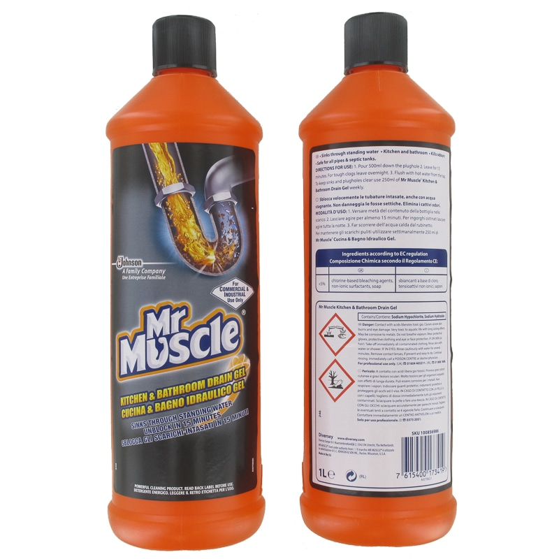 Mr Muscle Kitchen Amp Bathroom Drain Gel 1l Household B Amp M