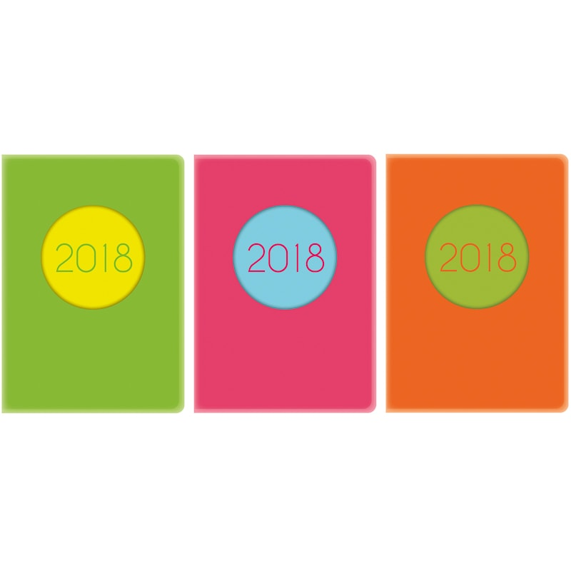 A5 Neon Day A Page Diary 2018 Diaries Amp Calendars B Amp M