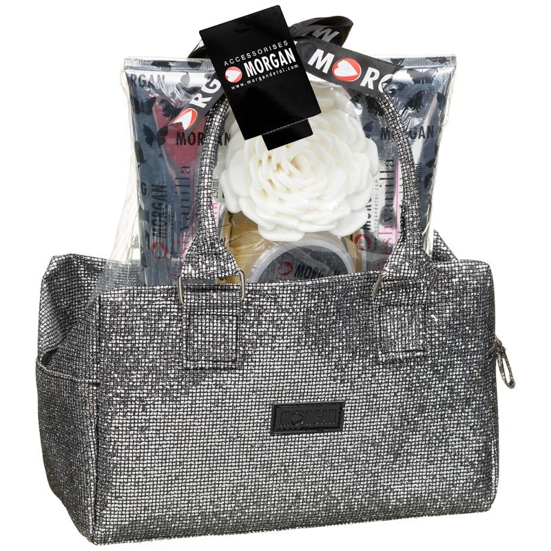Bathroom Set In A Bag: Morgan Bowler Bag & Bath Set - Silver