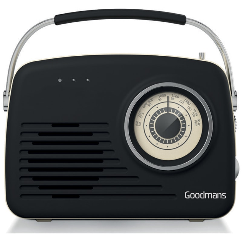 Goodmans Classic Am Fm Retro Radio Black Radios B Amp M