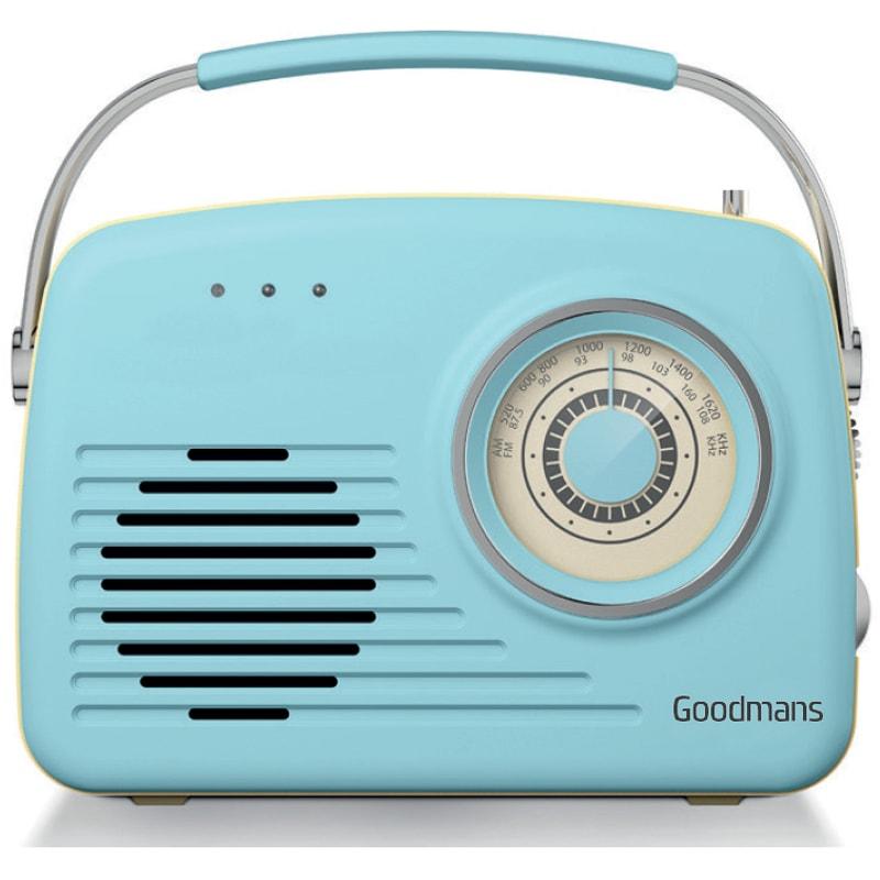 Goodmans Classic Am Fm Retro Radio Blue Radios B Amp M