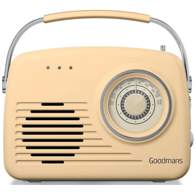 goodmans classic am fm retro radio cream radios b m. Black Bedroom Furniture Sets. Home Design Ideas