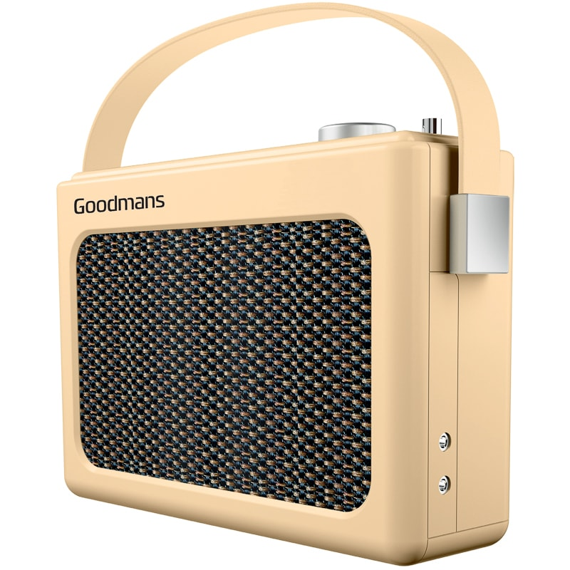 goodmans retro dab radio w bluetooth cream radios b m. Black Bedroom Furniture Sets. Home Design Ideas