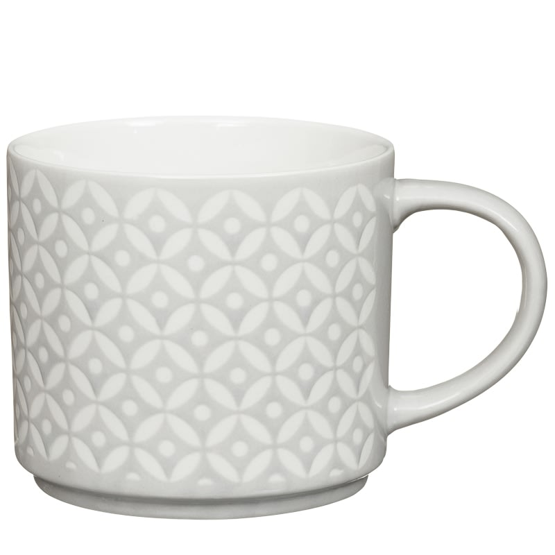 Jumbo Embossed Stacking Mugs 4pk