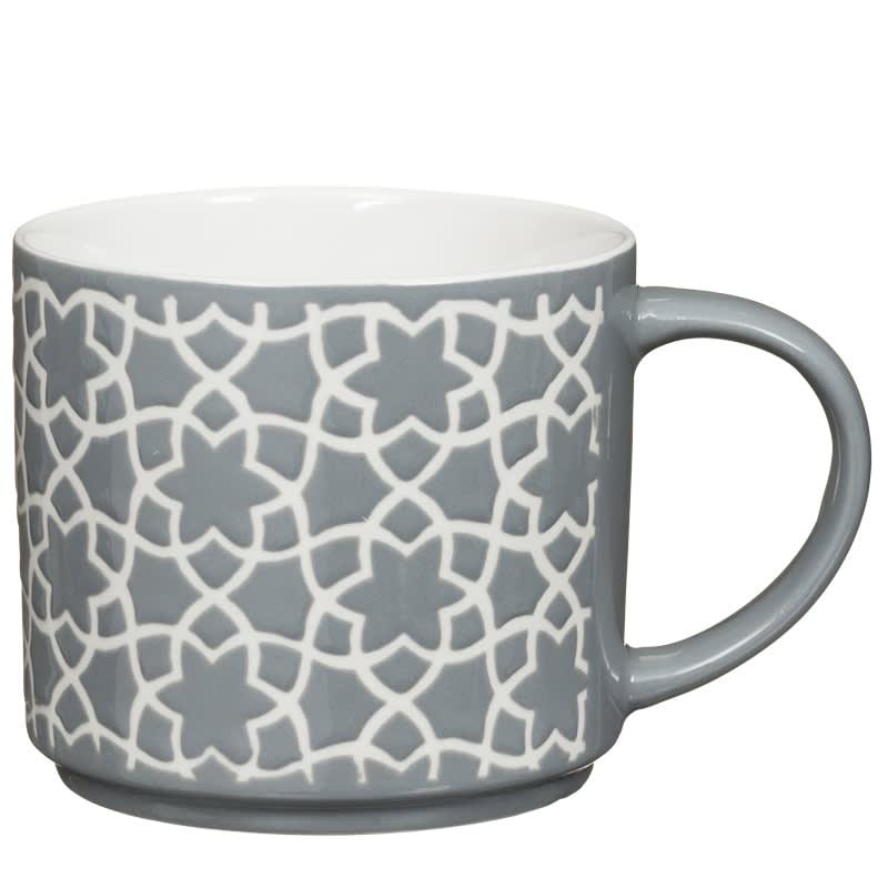 Jumbo Embossed Stacking Mugs 4pk   Mugs   Dining - B&M