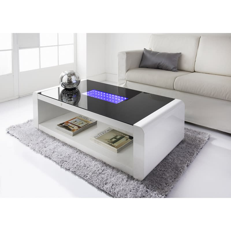 Led infinity coffee table living room furniture b m for B m living room furniture