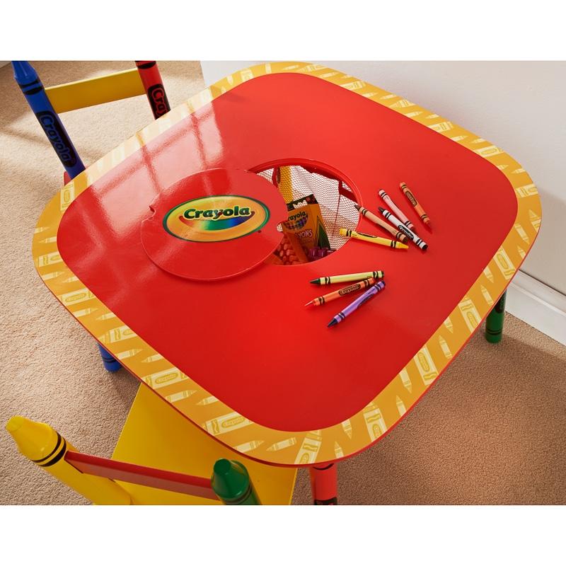 Crayola Kids Table Amp Chairs Set 3pc Kids Furniture B Amp M