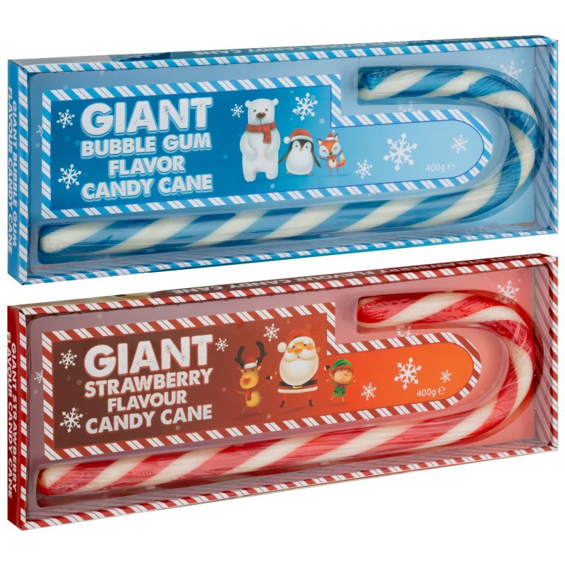 Giant Candy Cane 400g Strawberry Christmas Novelty