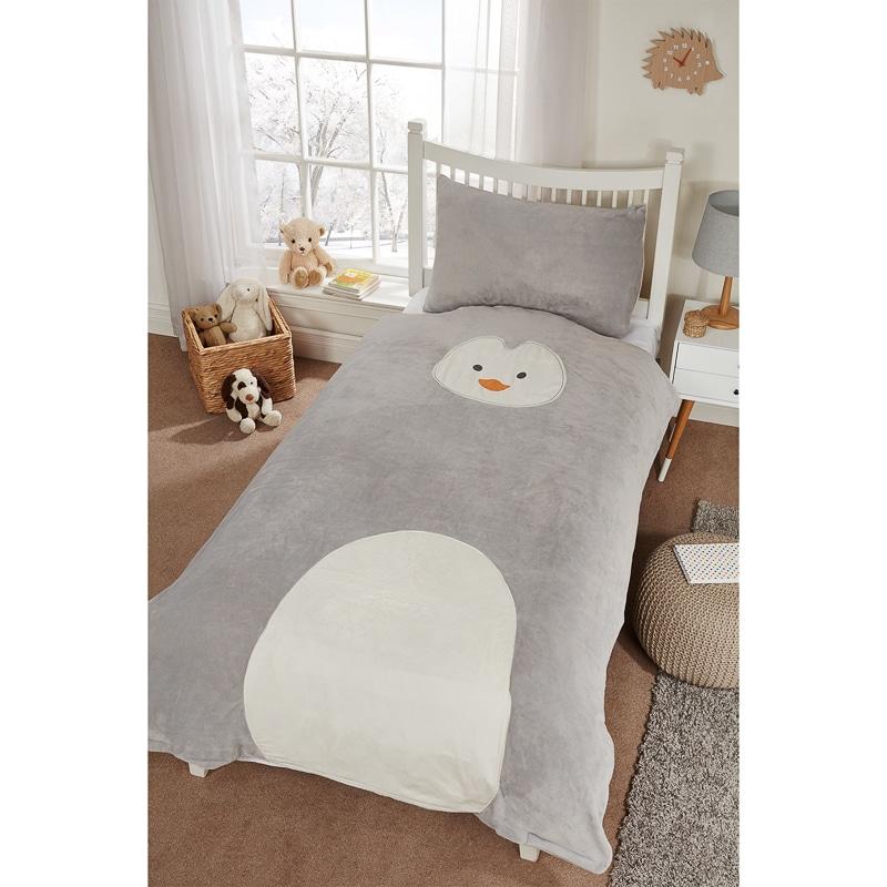 Kids Animal Fleece Duvet Set Single Bedding B Amp M