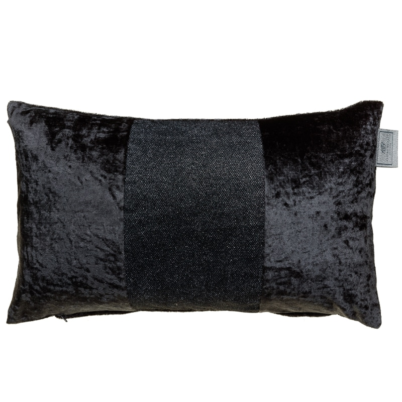 Sparkle Crushed Velvet Cushion Charcoal Cushions B Amp M