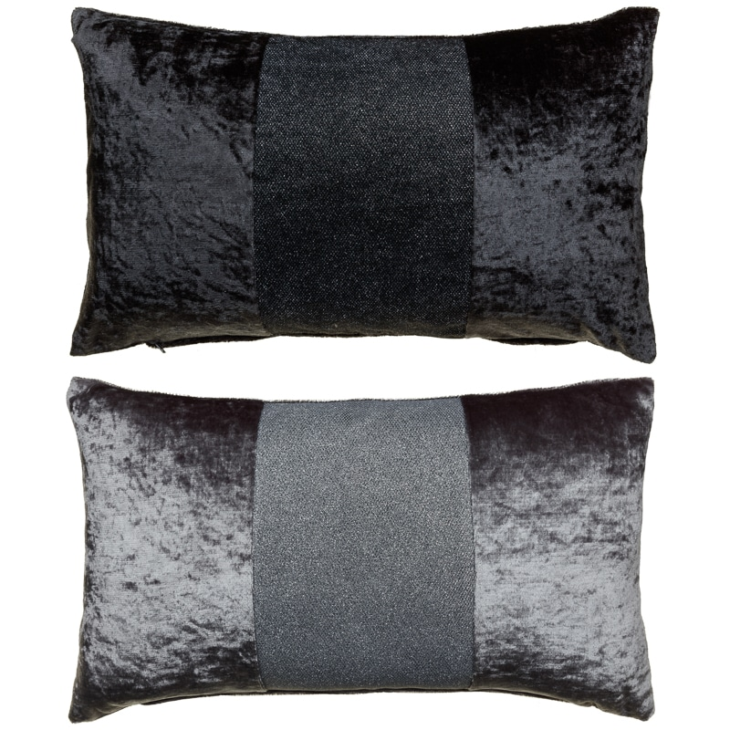 Sparkle Crushed Velvet Cushion Silver Cushions B Amp M