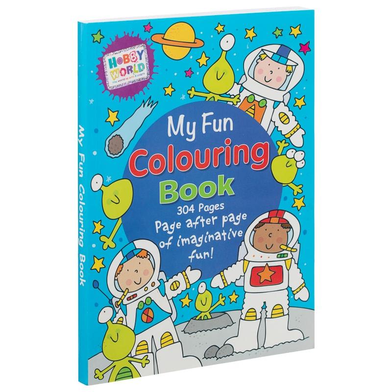 Hobby World My Fun Colouring Book - Blue Kids Crafts Books - B&M