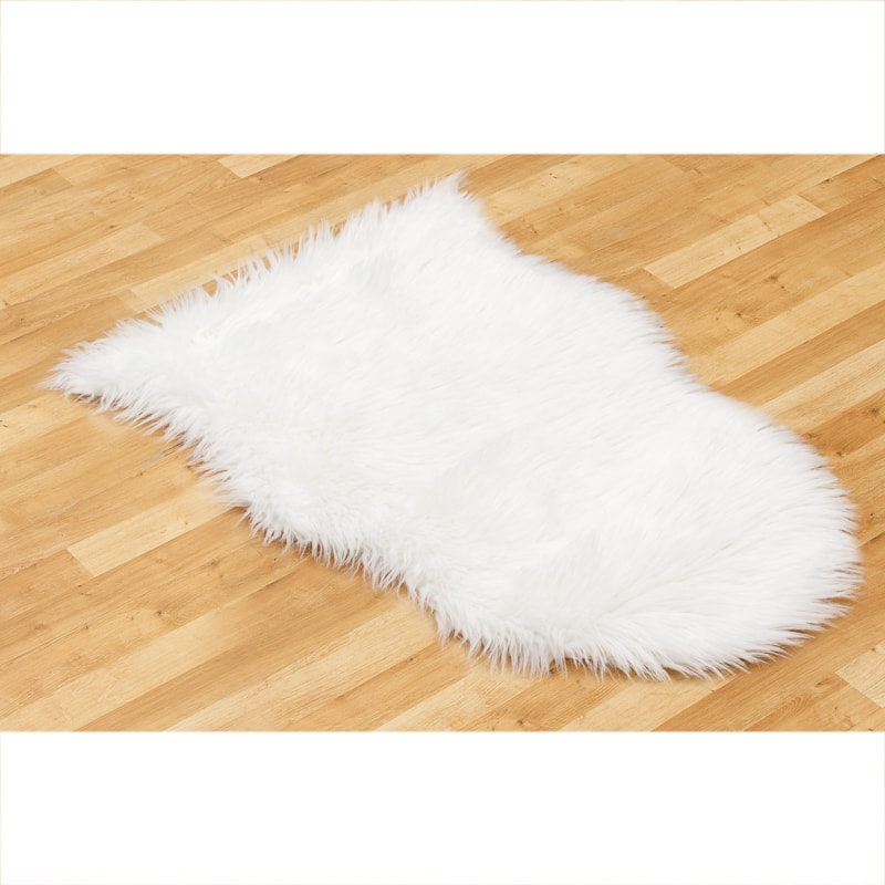 Faux Sheepskin Rug 60 x 90cm - Cream