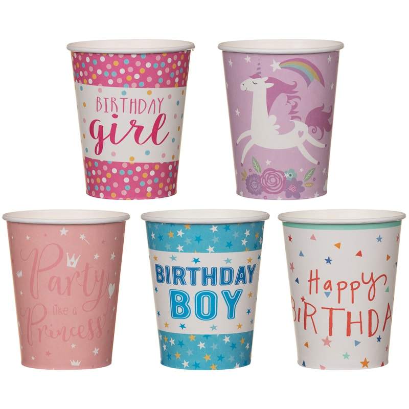 Paper Cups 20pk - Birthday Boy