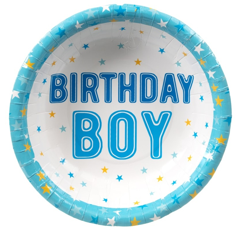 Kids Party Paper Bowls 20pk - Birthday Boy