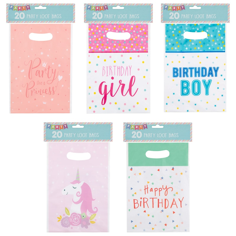 Kids Party Loot Bags 20pk - Princess