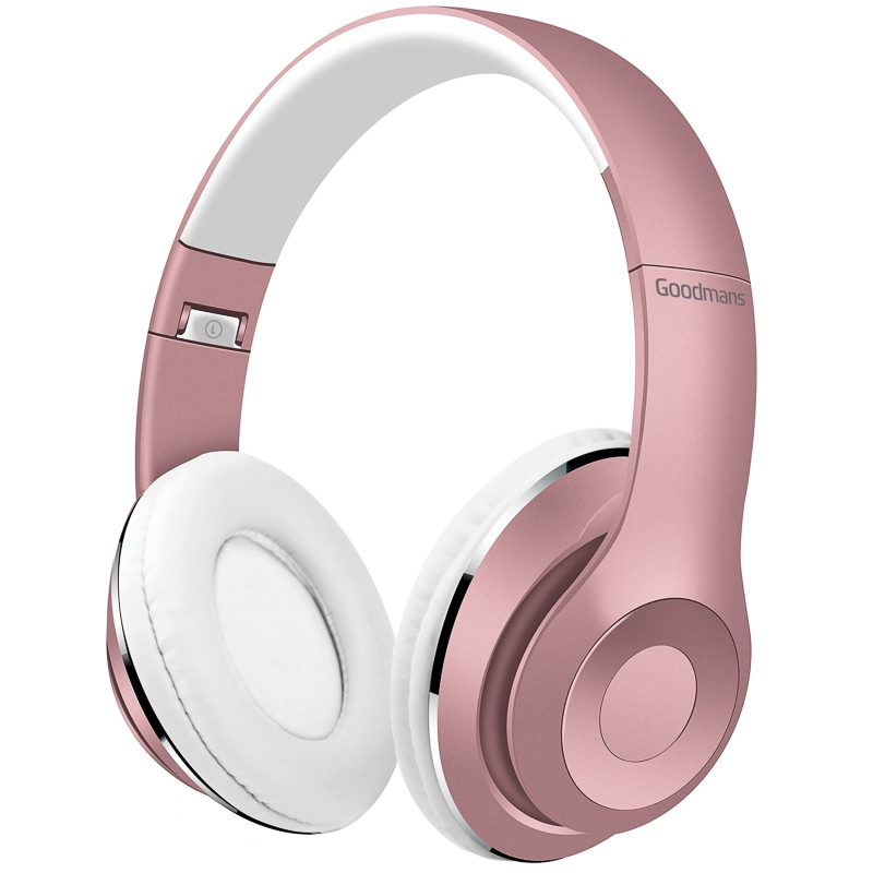 Goodmans Wireless Headphones Rose Gold Audio Headphones