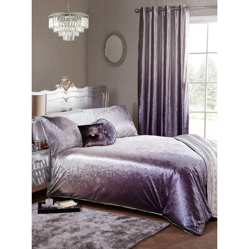 Full Ombre Velvet Duvet Set - King