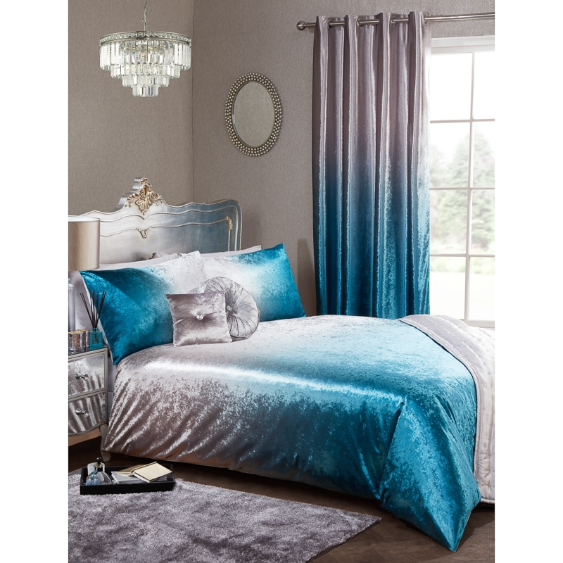 Full Ombre Velvet Duvet Set King Bedding B Amp M
