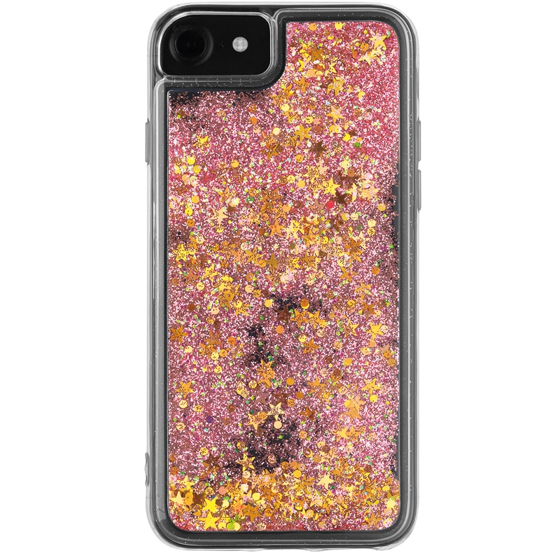 Intempo Glitter iPhone 6/7 Phone Case - Pink & Gold