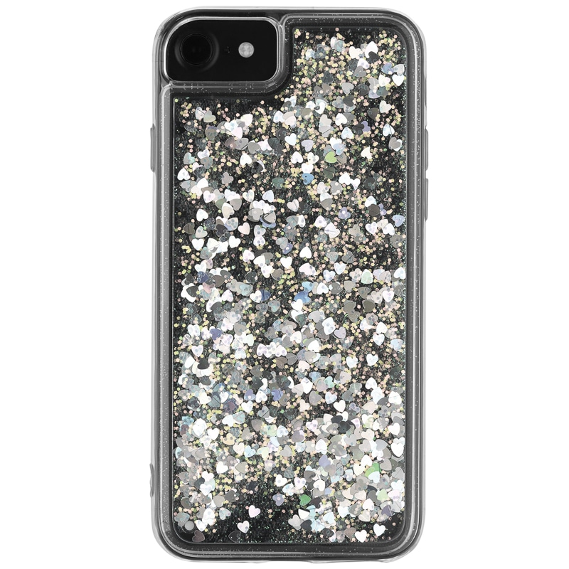 Intempo Glitter iPhone 6/7 Phone Case - White & Silver