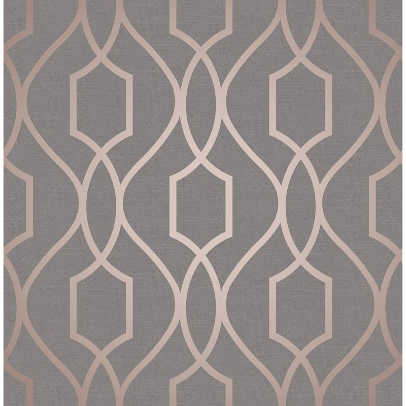 Apex Trellis Sidewall Wallpaper - Copper