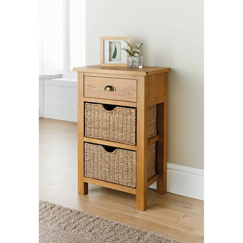 Wiltshire Oak Small Console Table Living Room Furniture BM