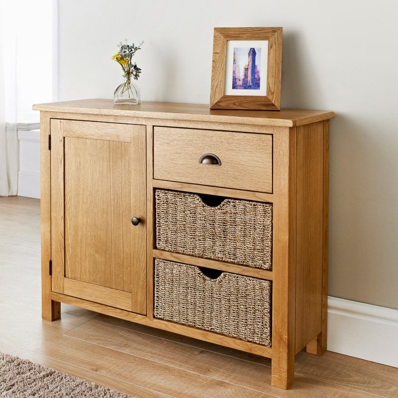 wiltshire oak sideboard living room furniture b m. Black Bedroom Furniture Sets. Home Design Ideas