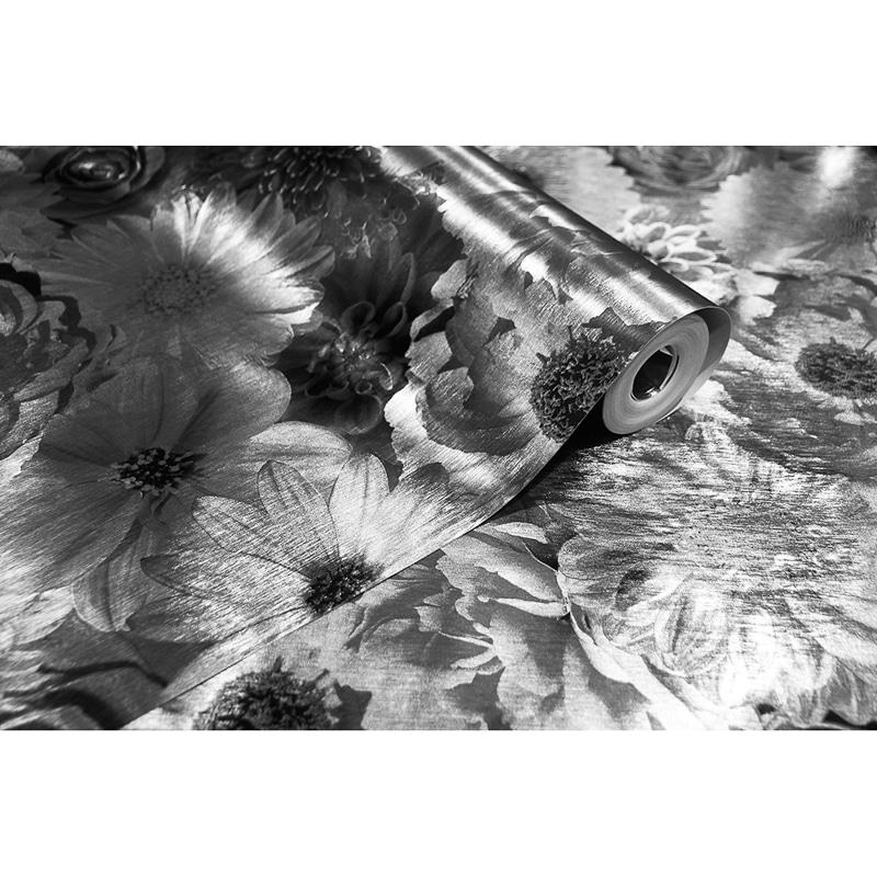 Foil In Bloom Wallpaper - Mono