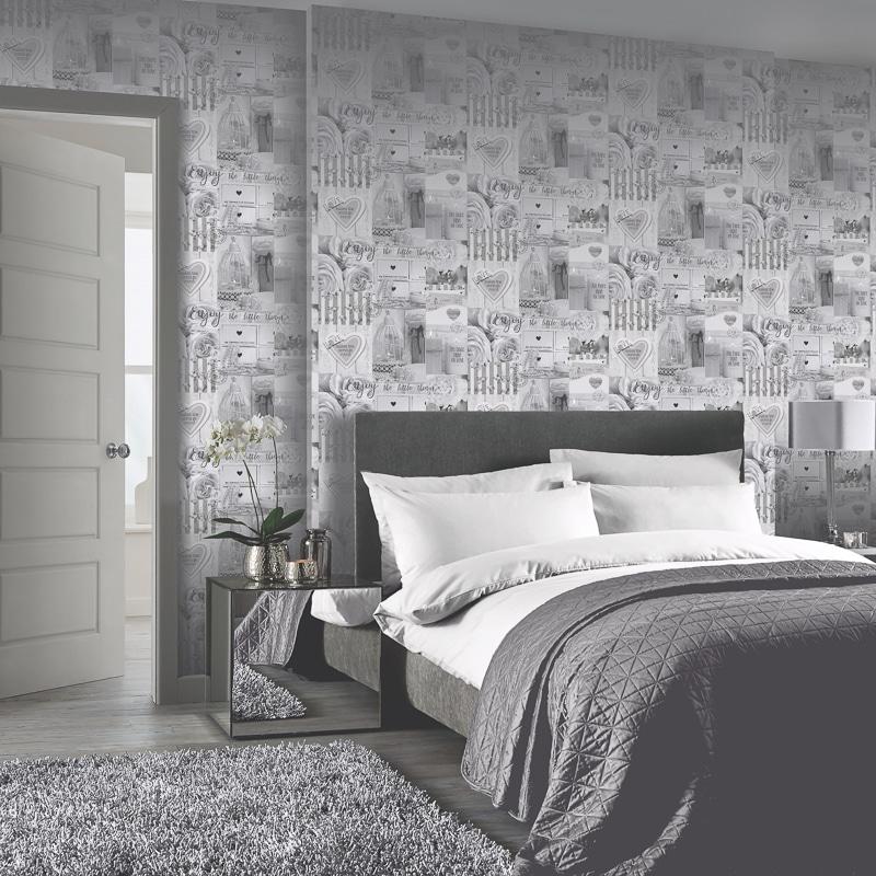 Diamond Rose Wallpaper Mono Wallpaper B Amp M