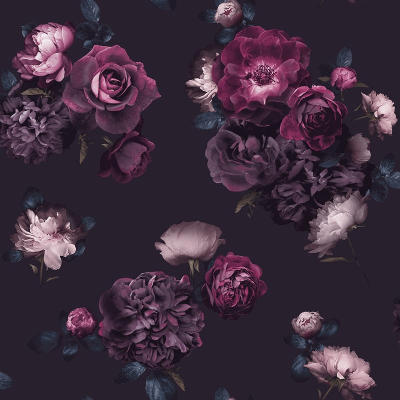 Euphoria Dark Wallpaper - Plum