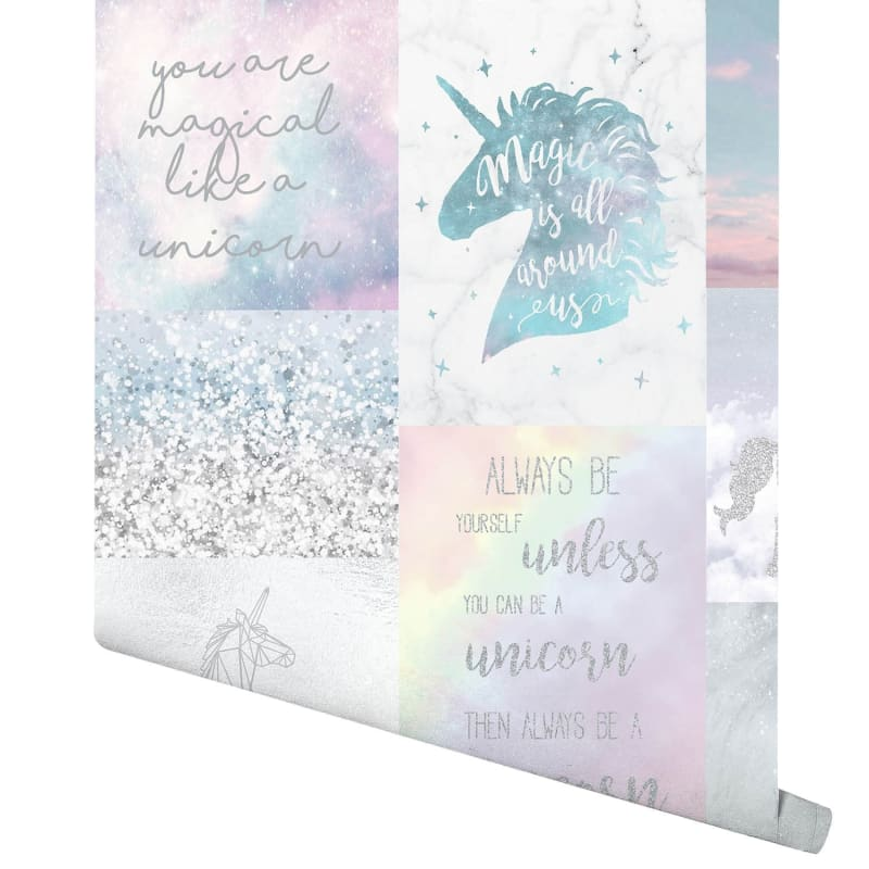 Believe in unicorns wallpaper multi wallpaper bm 330658 arthouse believe in unicorns wallpaper voltagebd Image collections