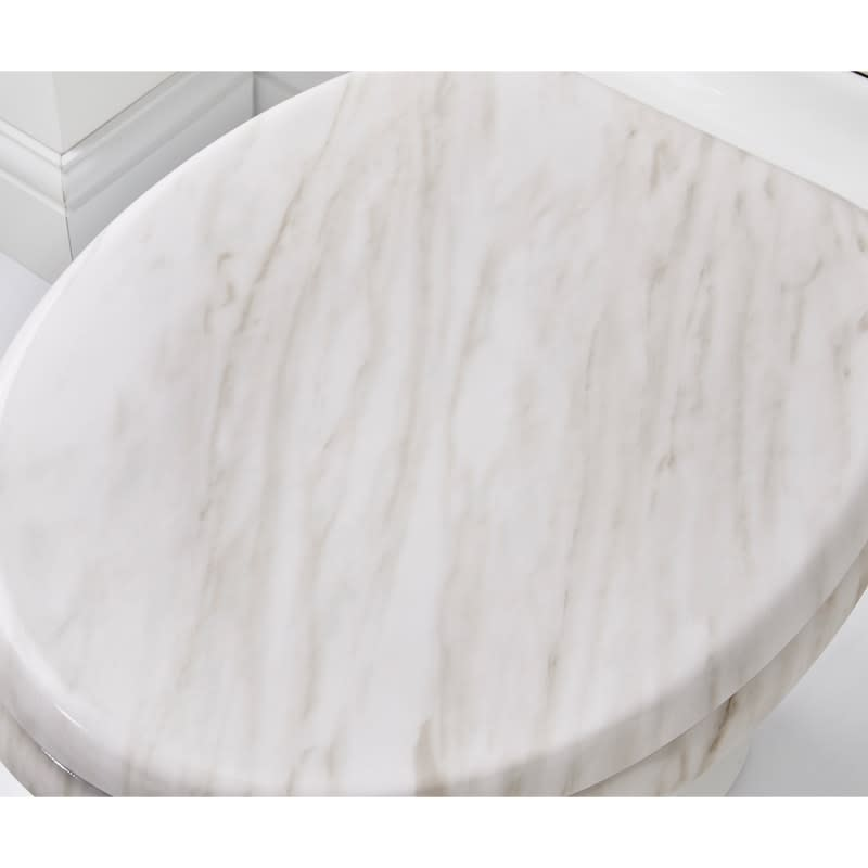 Marble Toilet Seat Grey Bathroom B Amp M