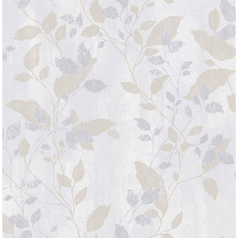 Vermeil Leaf Wallpaper Grey Wallpaper B Amp M