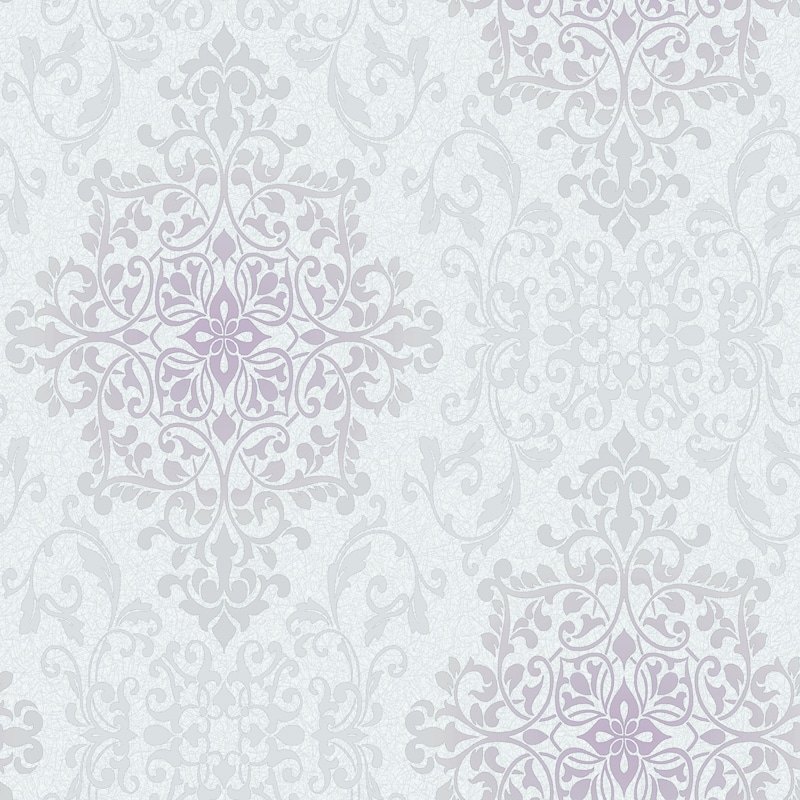 Nella Damask Wallpaper Grey Wallpaper BM