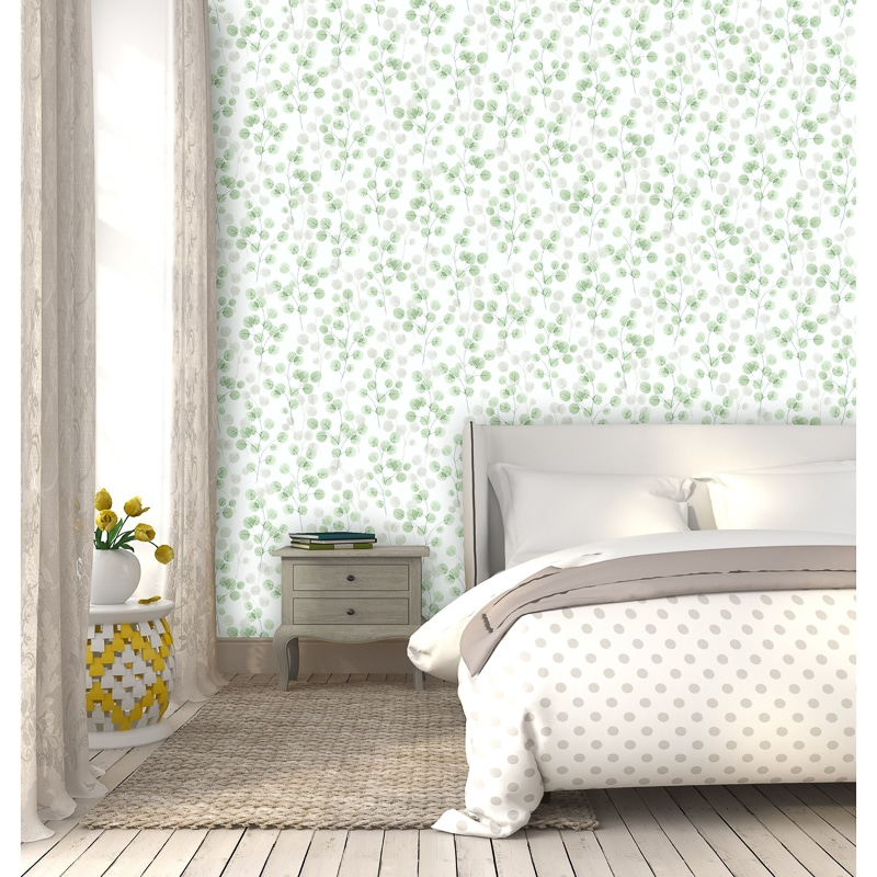 Natasha Floral Wallpaper - Green