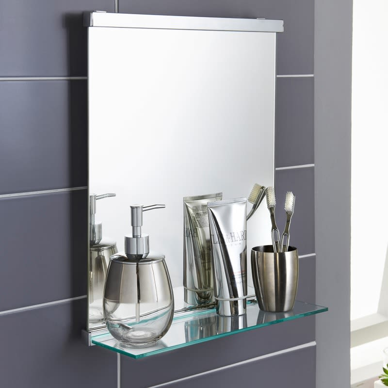 Astonishing Premium Bathroom Mirror With Shelf Download Free Architecture Designs Sospemadebymaigaardcom