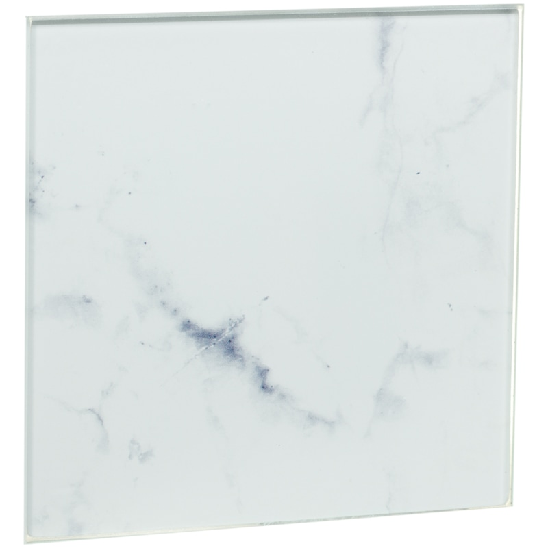 Marble Effect Glass Coasters 6pk Tableware Kitchen B Amp M