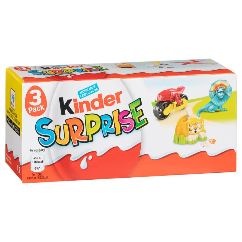 Kinder Surprise Egg 3pk Chocolate Bars B Amp M