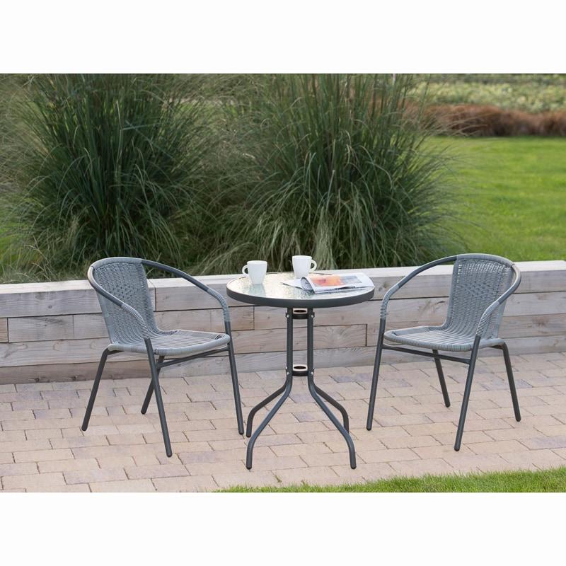 sorrento rattan effect bistro set 3pc garden furniture b m. Black Bedroom Furniture Sets. Home Design Ideas