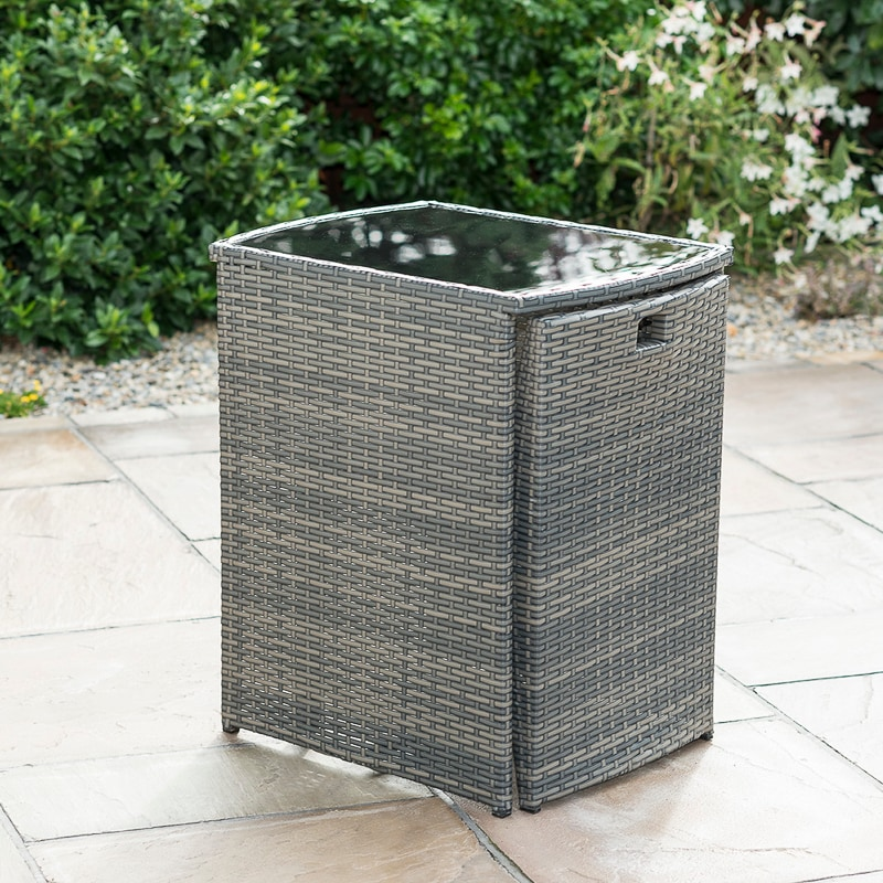 Sorrento Compact Square Bistro Set 3pc | Garden Furniture ...